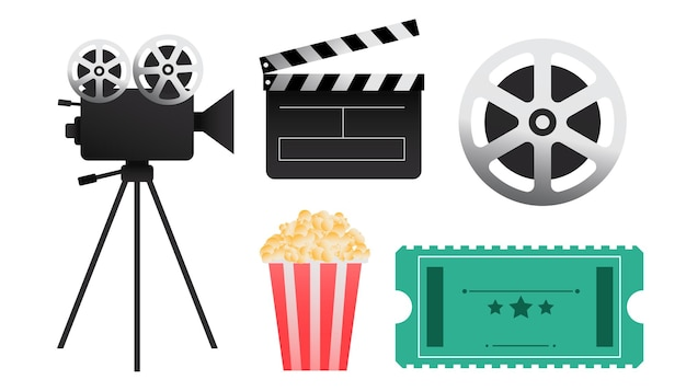 Elementos y objetos de películas de cine.