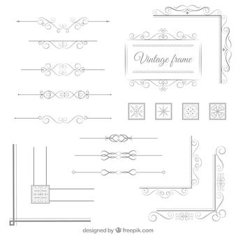 Elementos ornamentales vintage