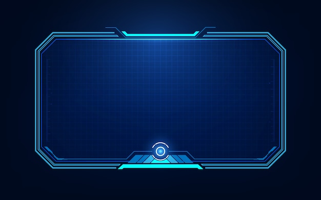 Elementos de pantalla de interfaz de usuario futurista hud, ui, gui. pantalla de alta tecnología