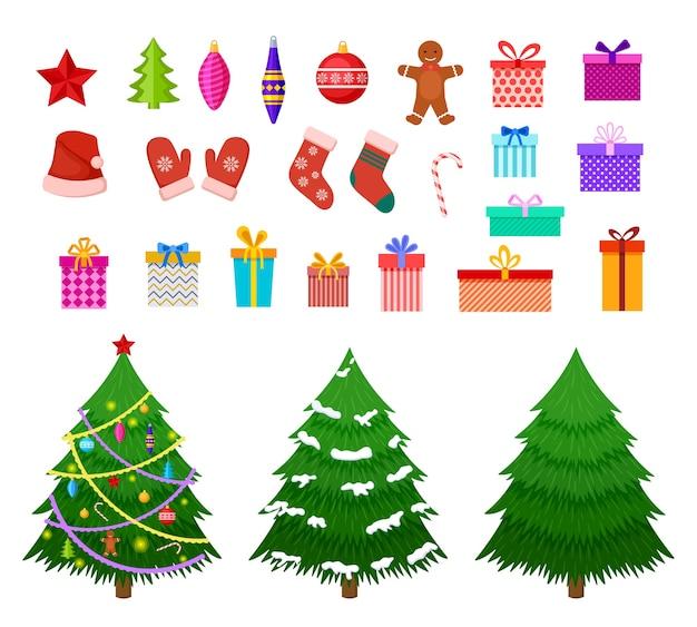 Elementos planos navideños