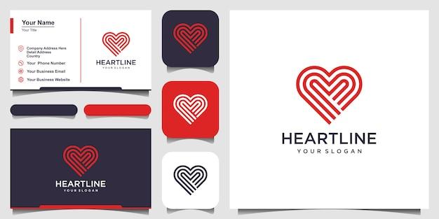 Elementos de plantilla de icono de símbolo de corazón. concepto de logotipo de atención médica. icono de logotipo de citas. modelo. tarjeta de visita