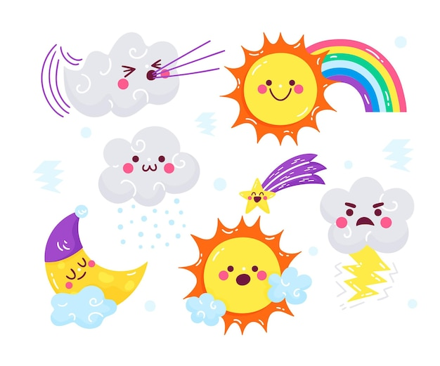 Elementos de previsión meteorológica plana