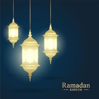 Elementos de ramadán kareem para la festividad sagrada islámica