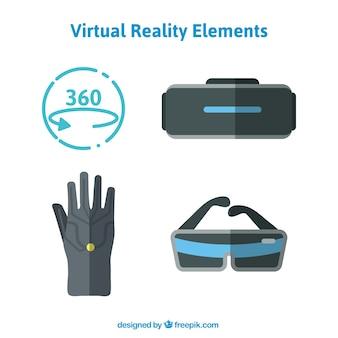Elementos de realidad virtual en diseño plano