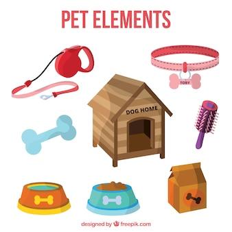 Elementos realistas de mascota
