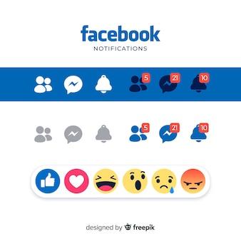 Elementos de redes sociales