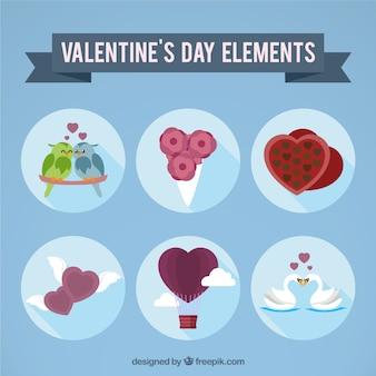 Elementos románticos del día de san valentín