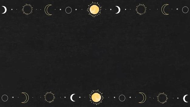 Elementos de sol y luna en blanco