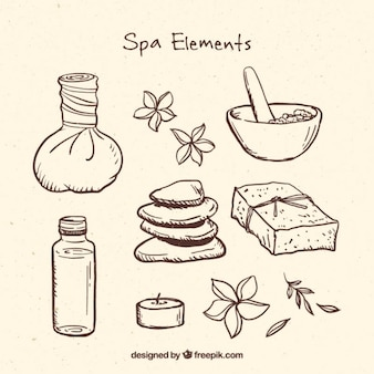 Elementos de spa relajantes