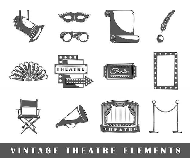 Elementos de teatro vintage