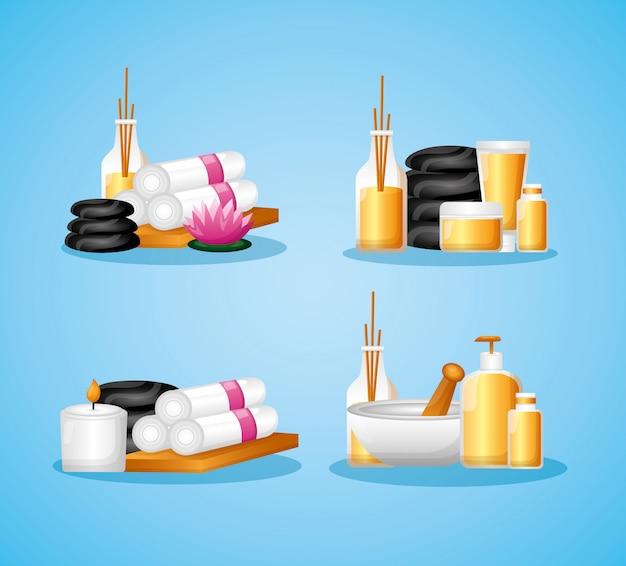 Elementos de terapia de tratamiento de spa