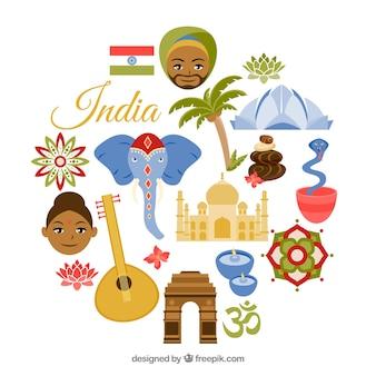 Elementos tradicionales de la india