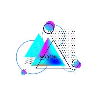 Elementos de vector colorido mínimo abstracto creativo moderno