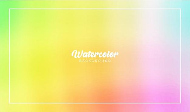 Elementos de vector de flujo colorido acuarela para fondo moderno