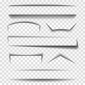 Elementos de vector de sombra para páginas
