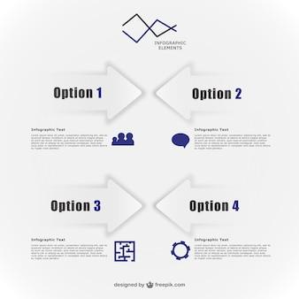 Elementos vectoriales de infografía minimalista