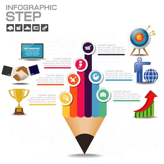 Elementos vectoriales para infografía.