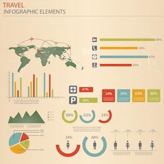 Elementos de viaje de infografía.