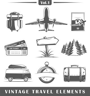 Elementos de viaje vintage