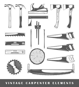Elementos vintage de carpintero