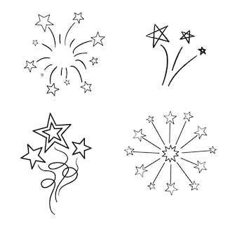 Elementos vintage vectoriales dibujados a mano - rayos de sol (explosión). perfecto para invitaciones, tarjetas de felicitación, blogs, carteles y más.
