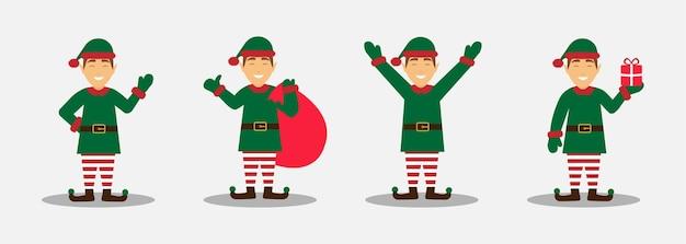Elfos navideños, pequeños ayudantes de santa claus.