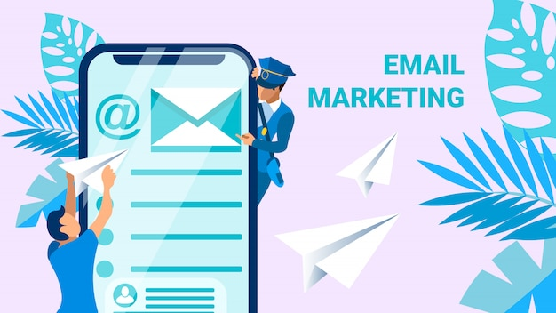 Email marketing business vector banner concepto