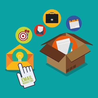 Email marketing y diseño de medios de comunicación.