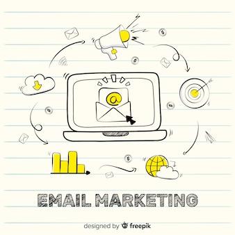Email marketing estilo garabato