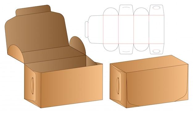 Embalaje en caja plantilla troquelada