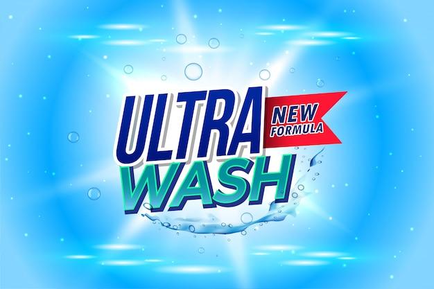 Embalaje de detergente para lavado ultra lavado