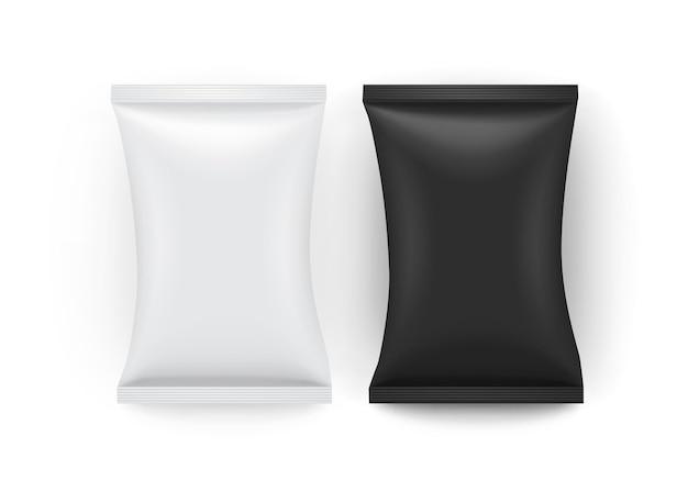 Embalaje de papel blanco y negro aislado