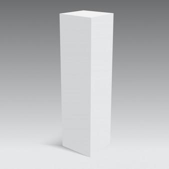 Embalaje de papel en blanco o caja de cartón