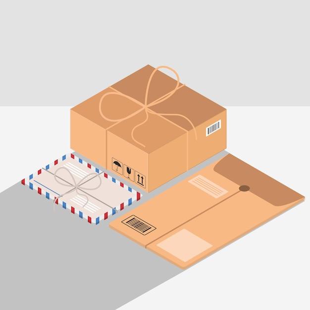 Embalaje de sobres correo