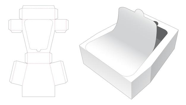 Embalaje trapezoidal con plantilla troquelada con cremallera