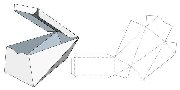 Embalajes para regalos, productos y alimentos. ilustración de vector de una caja de cartón. plantilla de paquete. maqueta minorista blanca aislada.
