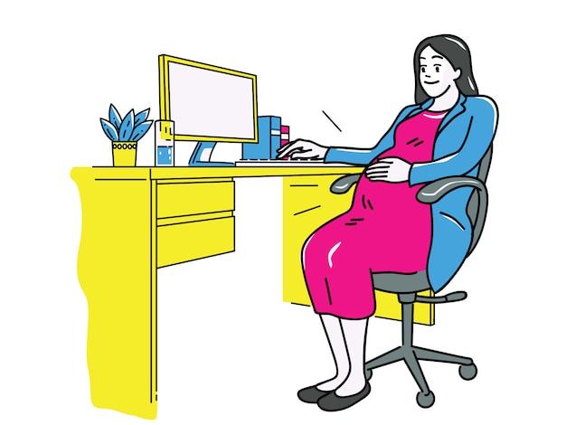 Embarazo de mujer de negocios