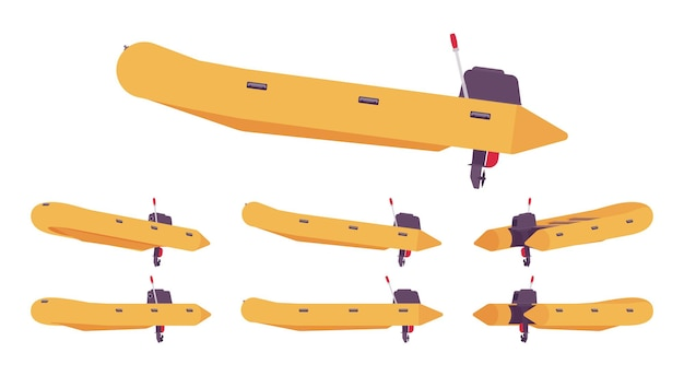 Embarcación neumática con motor fueraborda