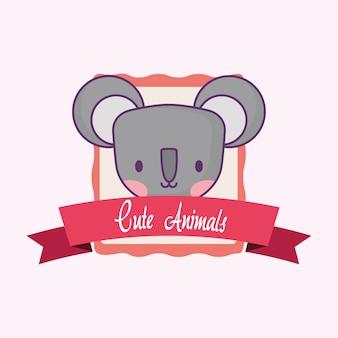 Emblema de animales lindos