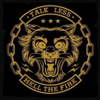 Emblema de cabeza de pantera