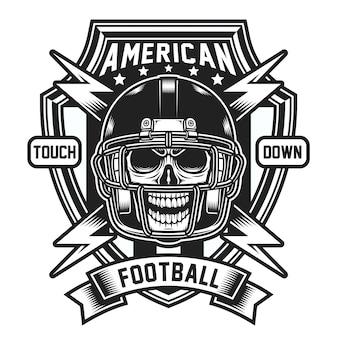 Emblema de calavera de fútbol americano