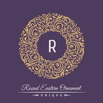 Emblema caligráfico redondo