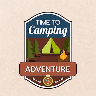 Emblema de camping de verano