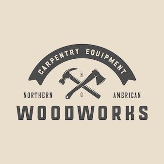 Emblema de carpintería vintage