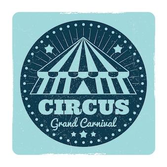 Emblema de circo vintage con efecto grunge