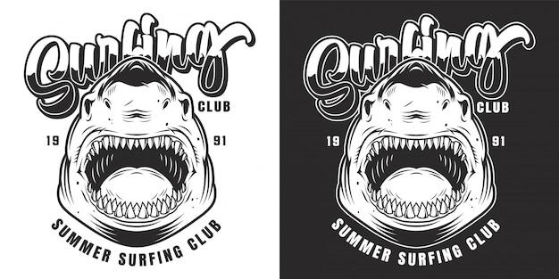 Emblema del club de surf vintage