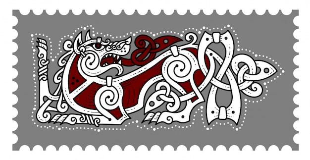 Emblema de combate vikingo berserker