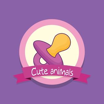 Emblema con diseño de baby shower