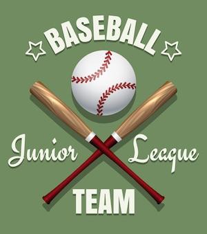 Emblema del equipo de juego de béisbol