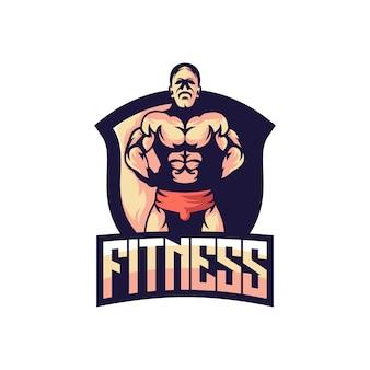 Emblema de fitness muscular